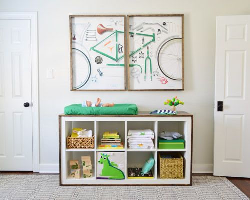 An Easy Ikea Hack Bookcase To Wood Wrapped Changing Table Nursery