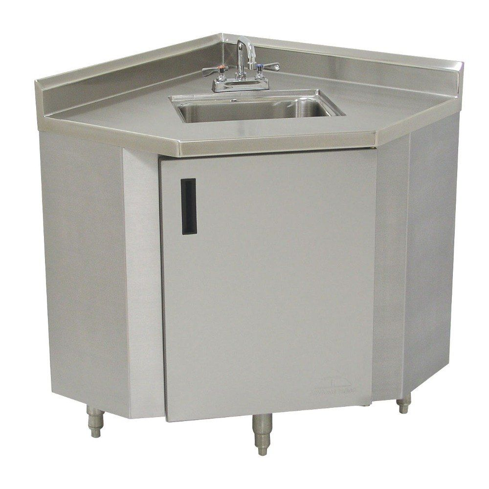 Advance Tabco Shk 2441 Stainless Steel Corner Sink Cabinet 24