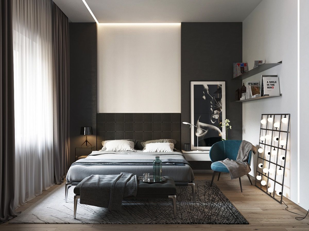 Bedroom Designs Inspiration And Ideas  Black White Bedrooms Bedrooms And Nightstands