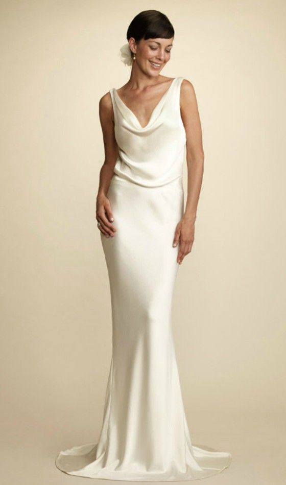 Simple Elegant Wedding Dress for Older Brides Over 40, 50, 60, 70 ...