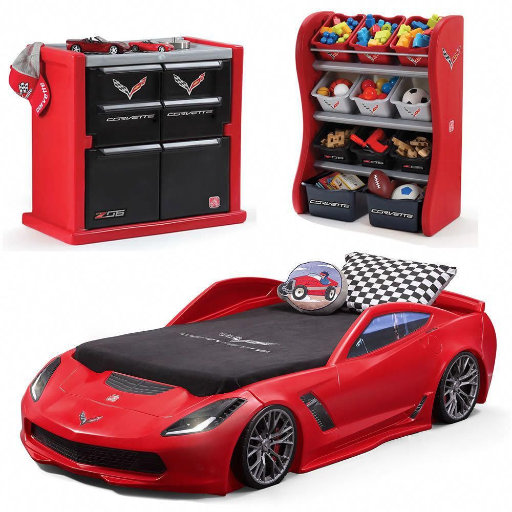 Details about Corvette Car Toy Bed Frame Twin Size w