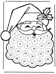 calendario de adviento para colorear 2