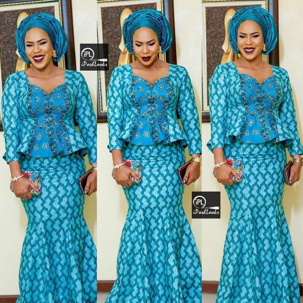 The Stunning Fathia Balogun Rocks Her Aso Ebi With Style - Wedding ...