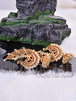 Earrings Studded with Sparkling Colored Stones