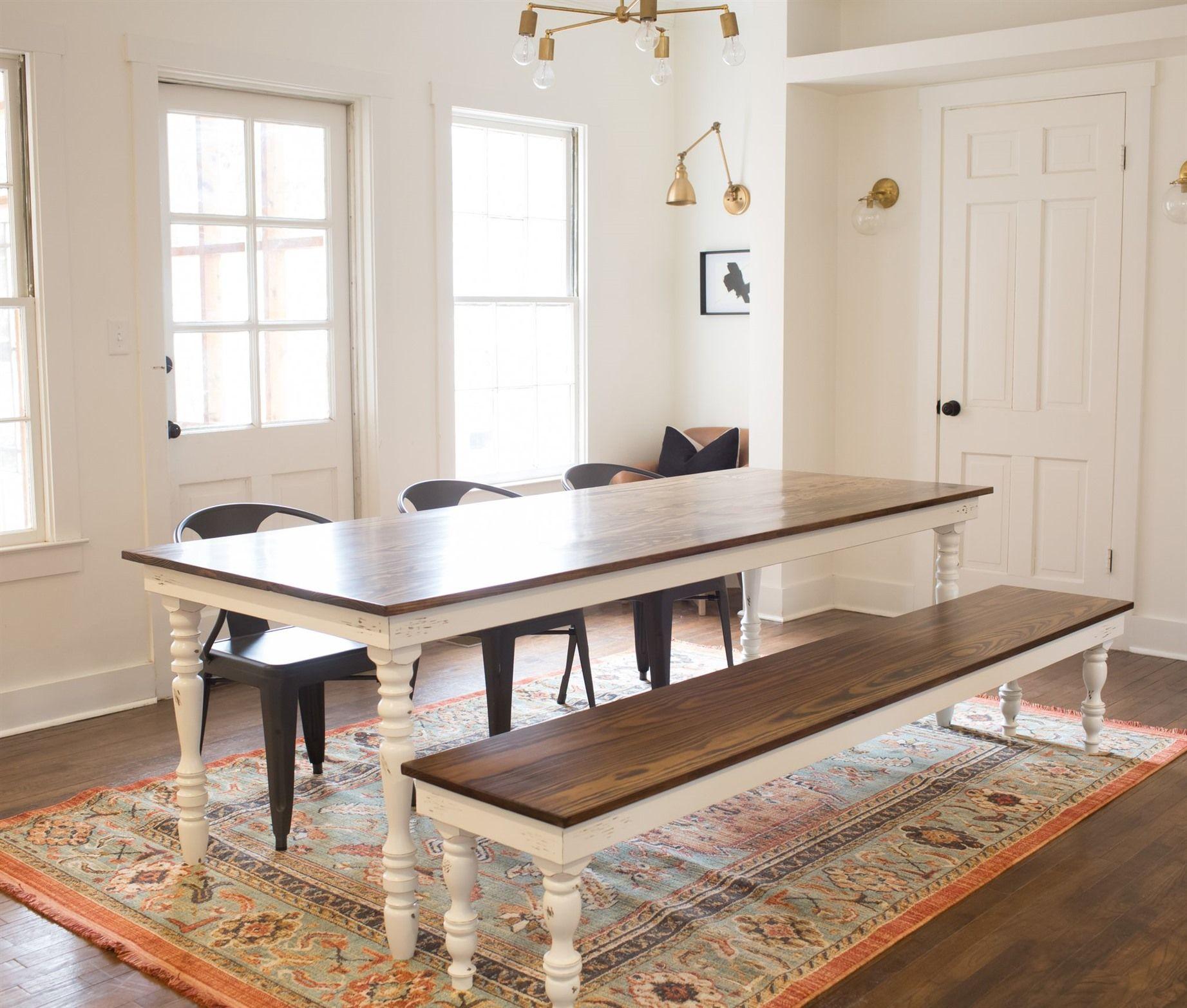 Beau 24+ Inexpensive Farmhouse Table Ideas | Cool Tables ...