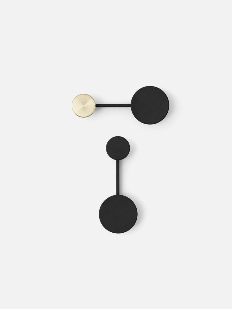 Afteroom Coat Hanger Small Black Brass By Zink Alloy For Menu