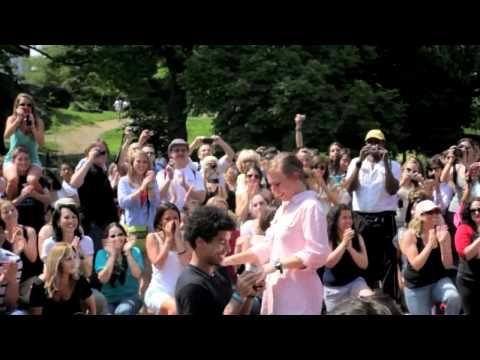 Logan And Jennas Central Park Marriage Proposal Flash Mob To Katy