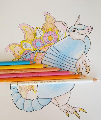 Armadillo Mandala Coloring Page Mandala Coloring Mandala