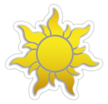 Tangled Kingdom Sun Emblem 2 Sticker By Jeffery Borchert Disney Sticker Tangled Sun Aesthetic Stickers