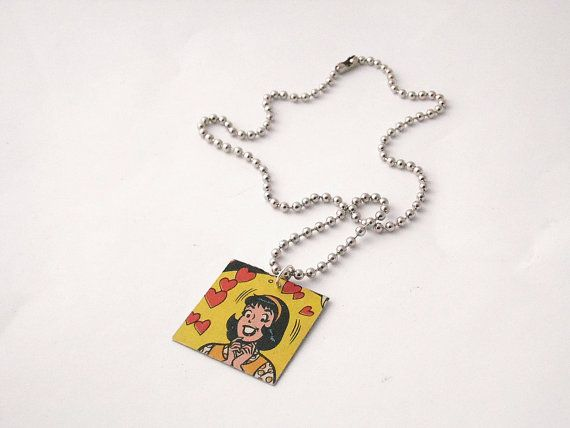 Vintage Archie Comic 'Salesman Swoon' Pendant by LilRedsBoutique, €6.00