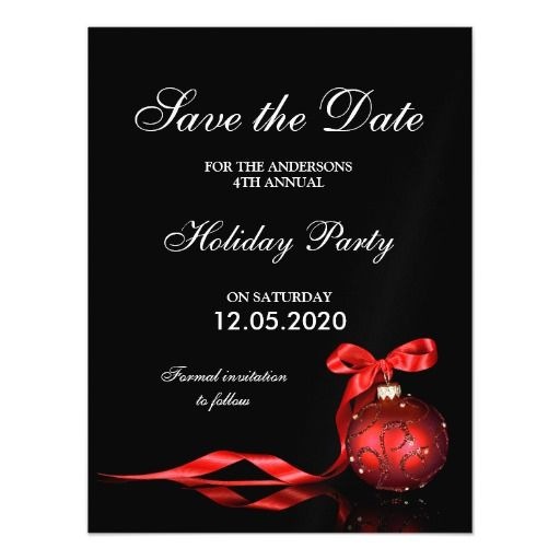 elegant christmas and holiday party save the date magnetic