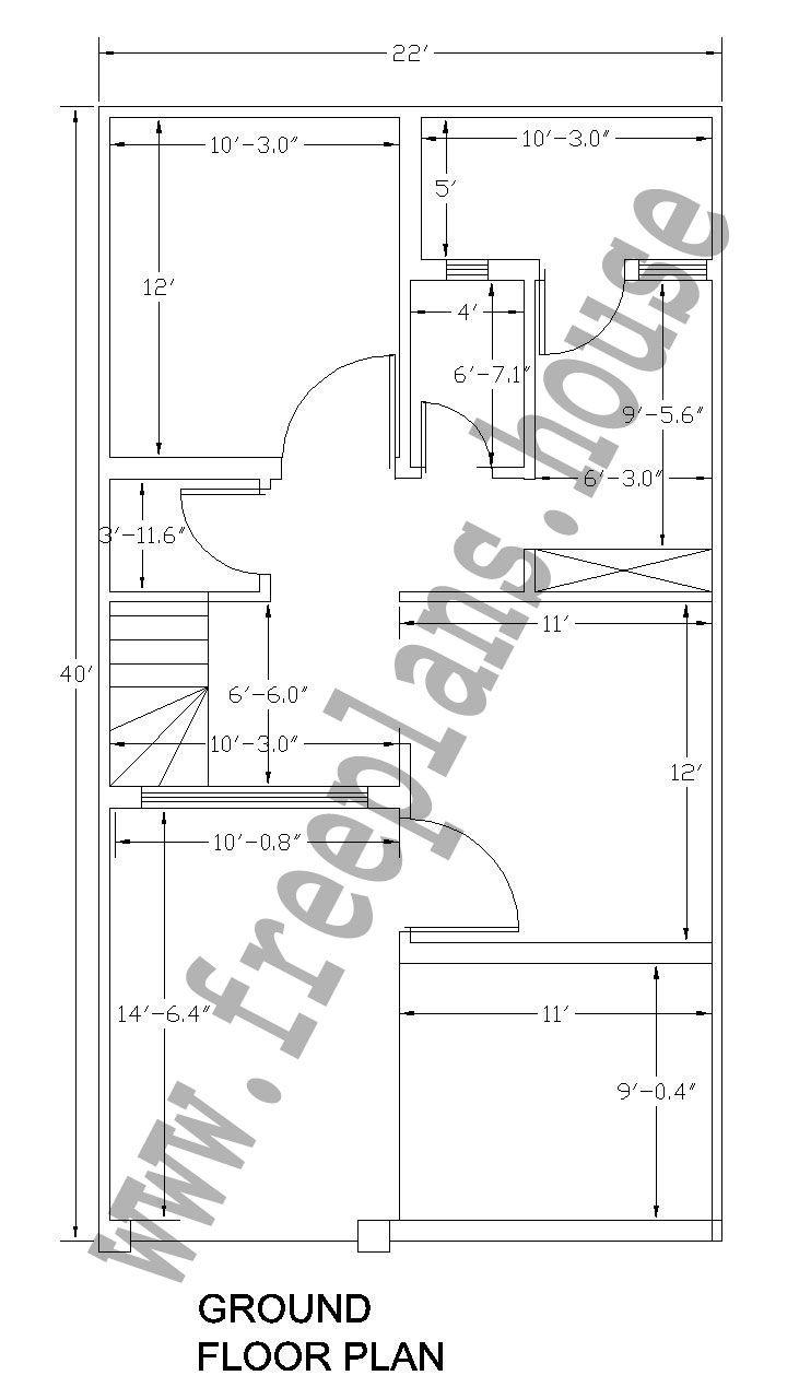 Lovely 22x40 Feet /81 Square Meter House Plan