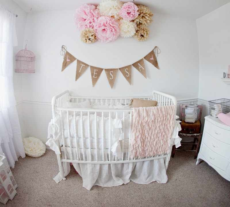 Burlap Baby Banner The Whole Nursery It S Perfect