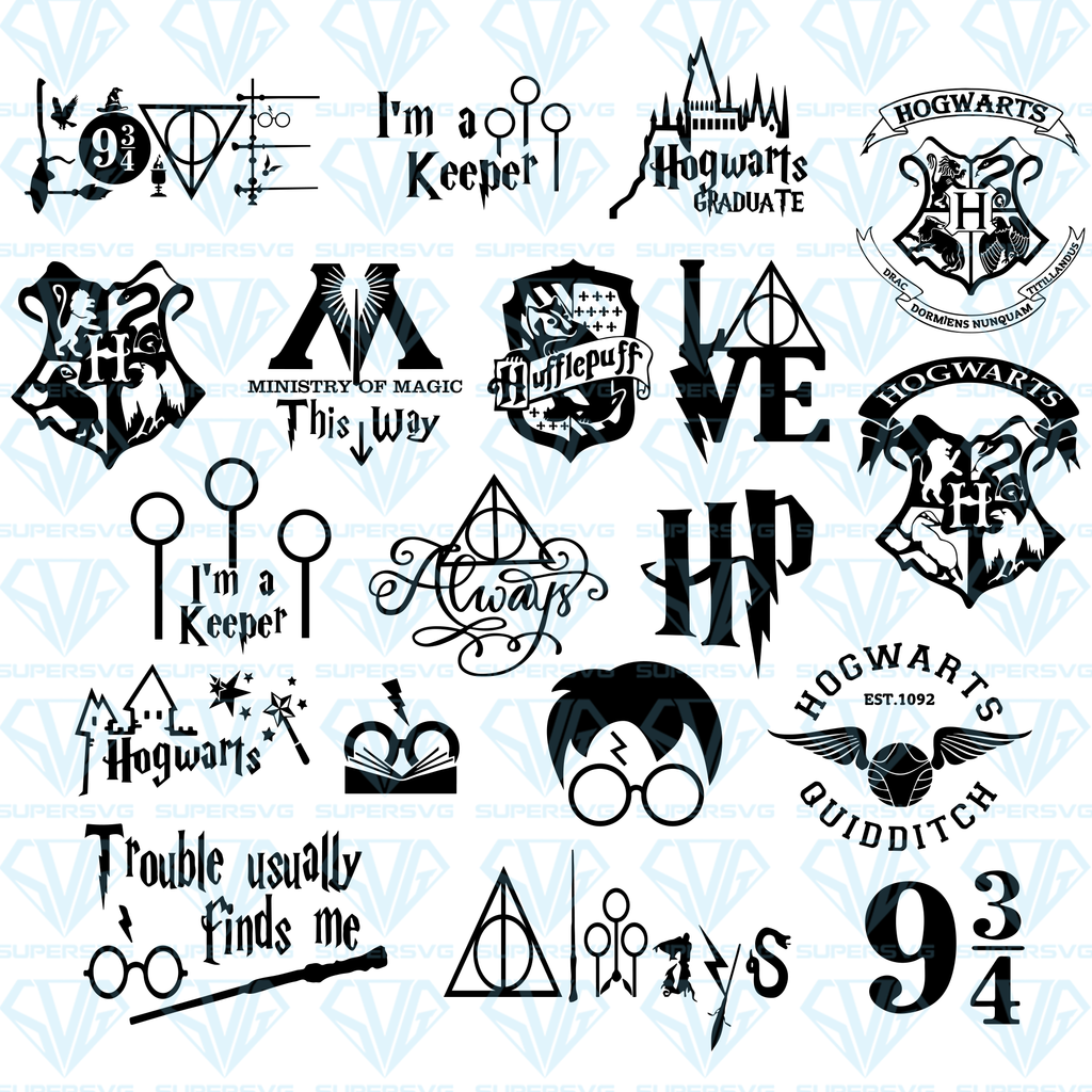 Download Harry Potter Bundle SVG Files For Silhouette, Files For ...