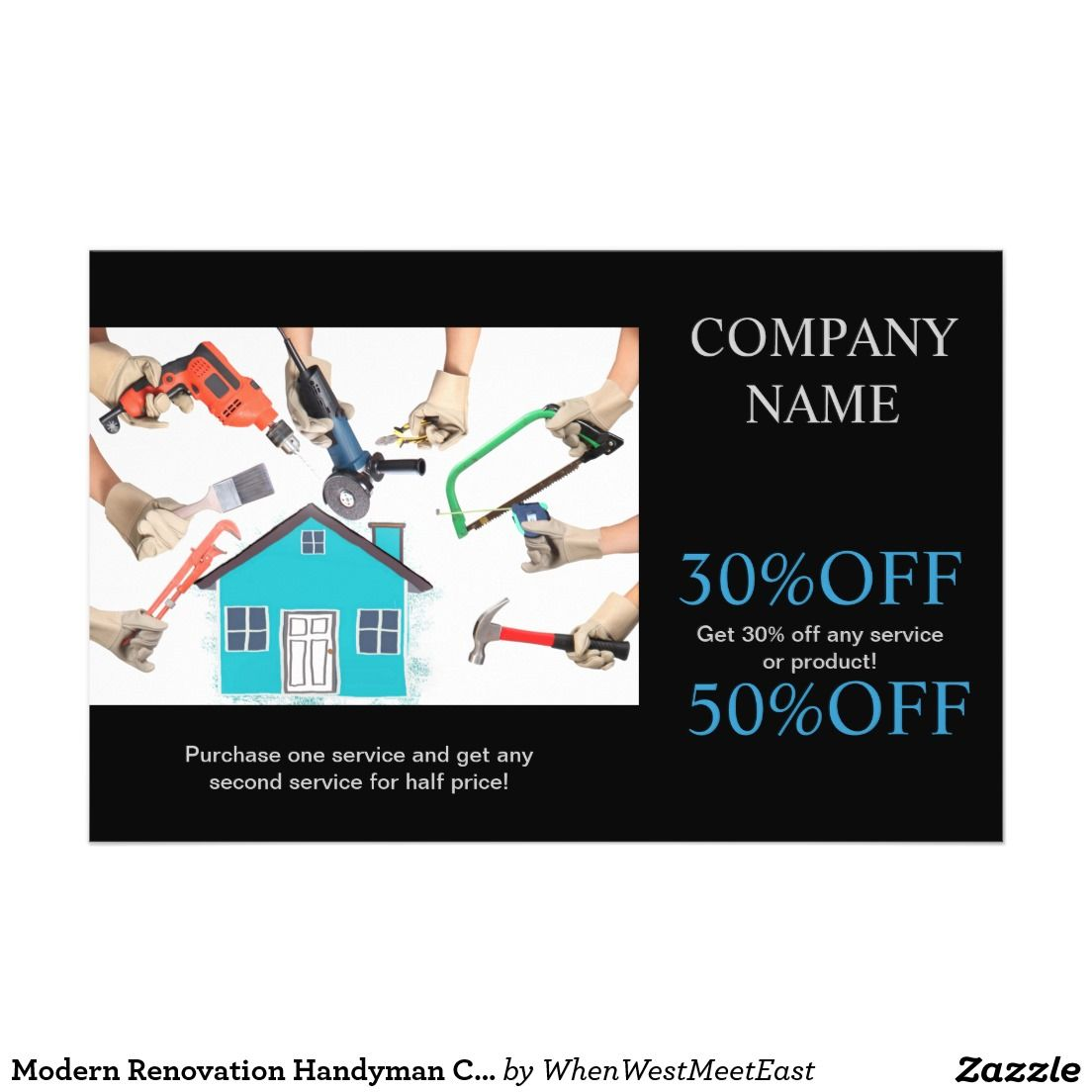 Modern Renovation Handyman Carpentry Construction Flyer | Carpentry ...