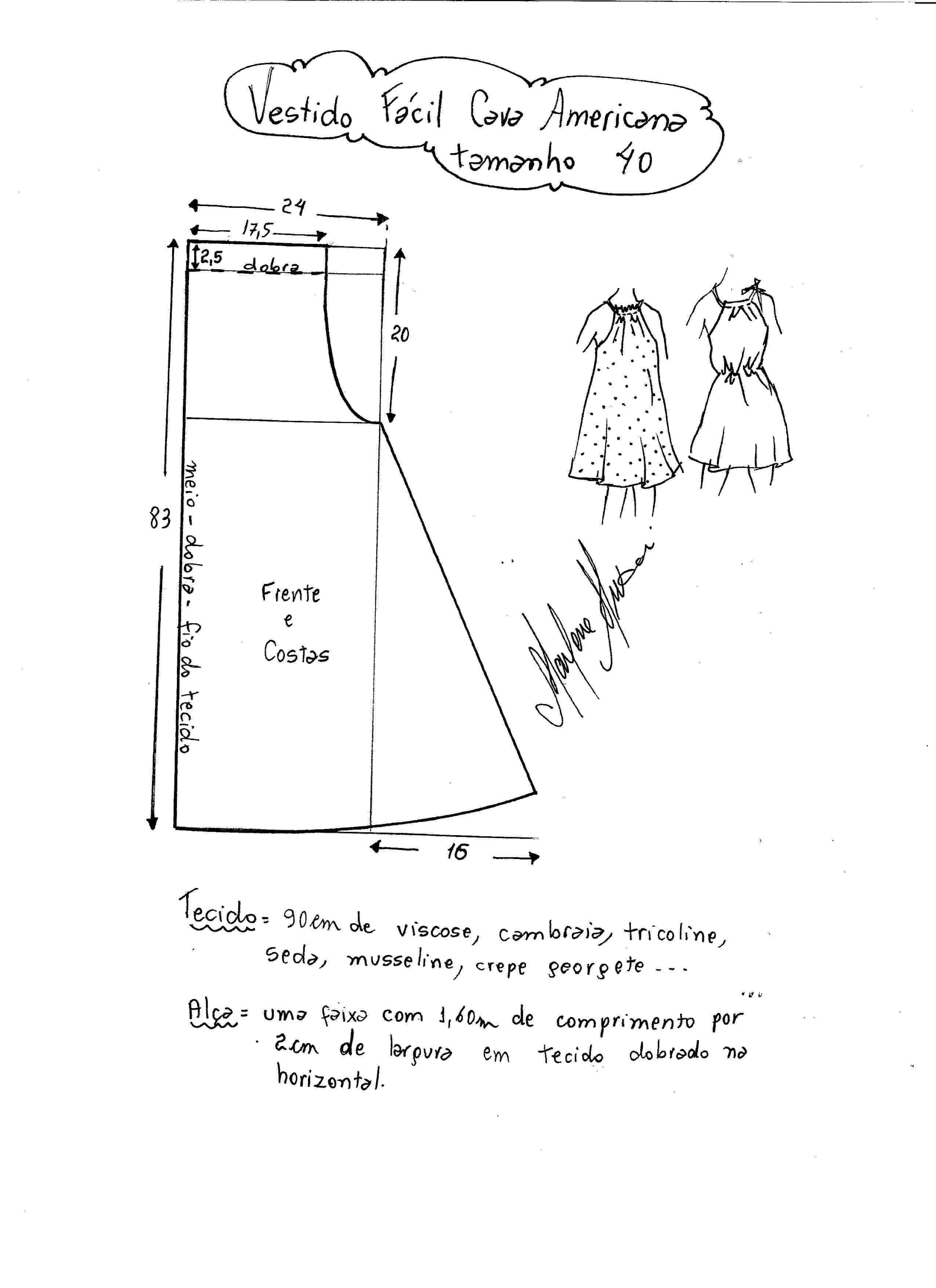 Patrón vestido fácil de sisa americana | Patrones costuras ...