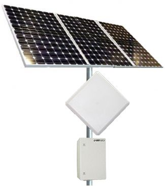 "Remote Solar Power Kit -: Remote Power Kit is designed for applications where power is needed but no power is available. The high quality solar panels have a 20-25 year power output guarantee. The solar panels come with a specific pole mount that can be mounted to a 2"" to 6"" diameter pole depending on the model. http://avalanwireless.com/shop/awsk900w-900-watt-remote-solar-power-kit/"
