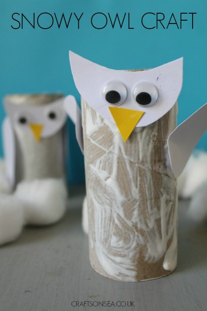 Snowy Owl Craft for Kids   Owl crafts, Crafts, Easy crafts