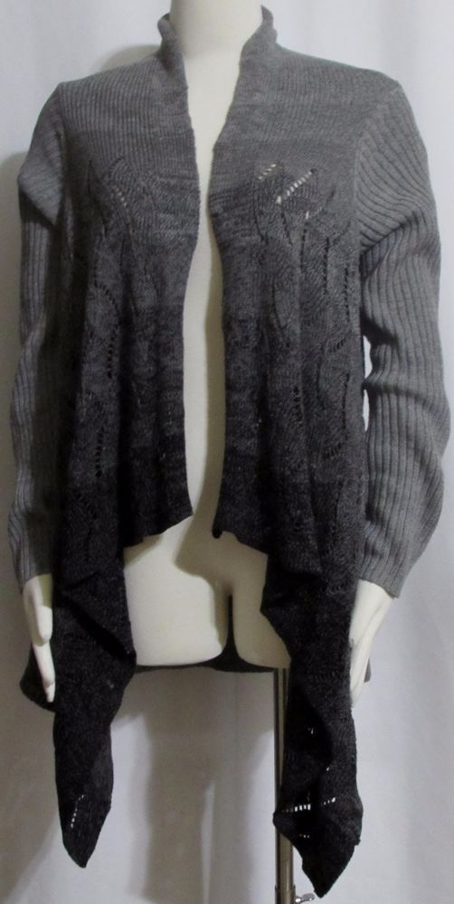 NEW Womens Ladies COLDWATER CREEK Shades of Gray Cotton Open Cardigan Sweater S #ColdwaterCreek #OpenCardigan #Versatile