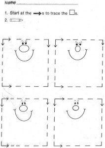 trace square worksheet | Preschool Learning Resources | Preschool ...