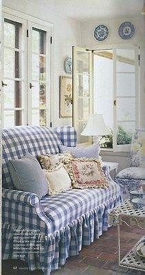 Blue And White Checked Sofa Blue And White Pinterest