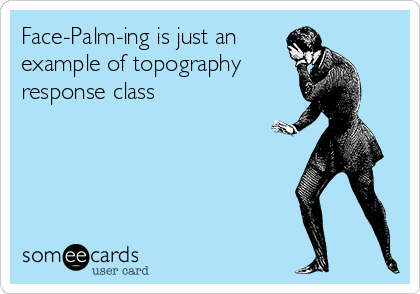 Funny Somewhat Topical Ecard FacePalmIng Is Just An Example Of
