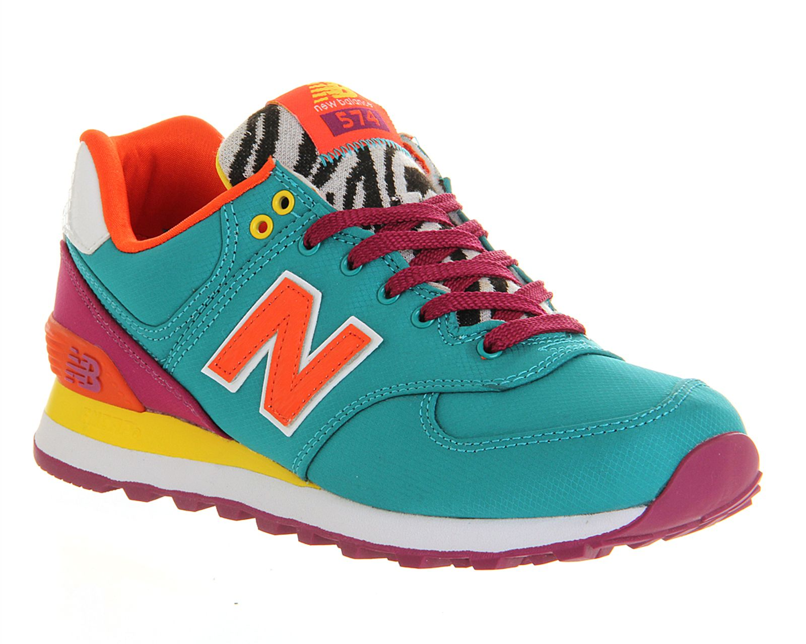 New Balance Wl574 Turquoise Orange Purple - Hers trainers