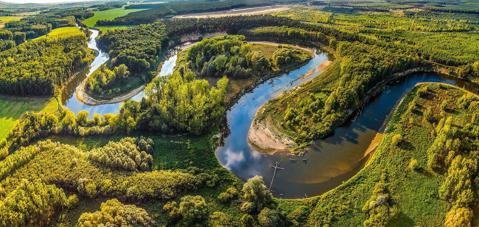 Meandering River Landscape River Nature Photos