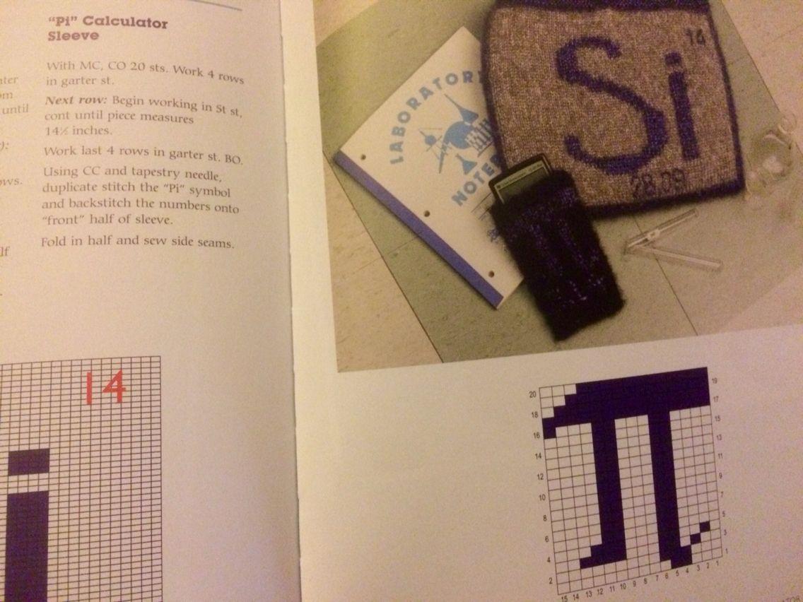 Pi Calculator Sleeve Knitting Pattern Yarn Diy Tapestry Needle