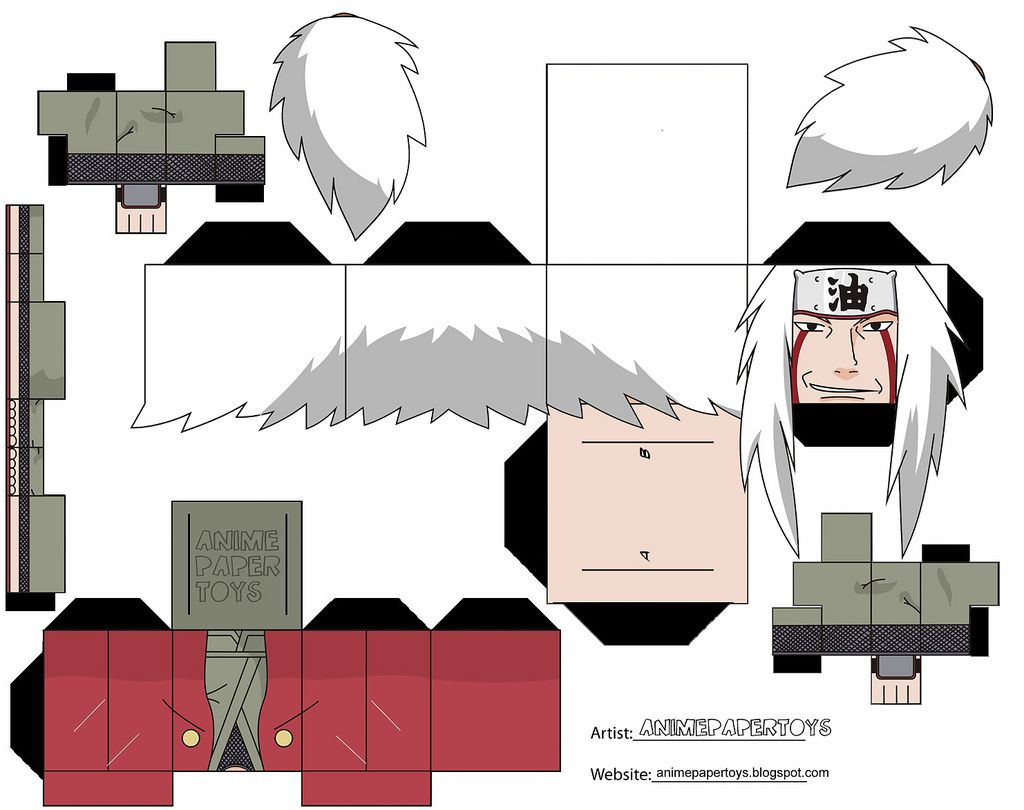 Ichigo Hollow Mask Papercraft Minimalist muñecos armables de anime | naruto, papercraft and paper toys