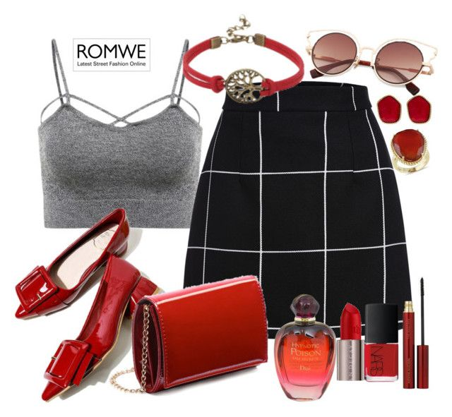 """""""Romwe"""" by marionmeyer on Polyvore featuring Mode, Urban Decay, NARS Cosmetics, Kevyn Aucoin, Christian Dior, Diane Von Furstenberg und Ice"""
