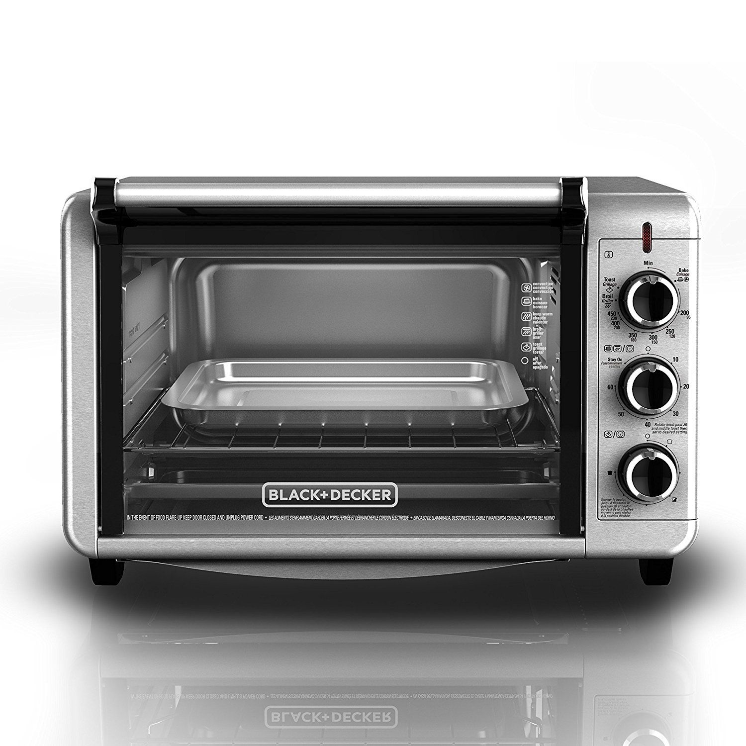 com bake includes toasting extra amazon convection oven wide broil slice toaster rack spacemaker decker pan dp black countertop