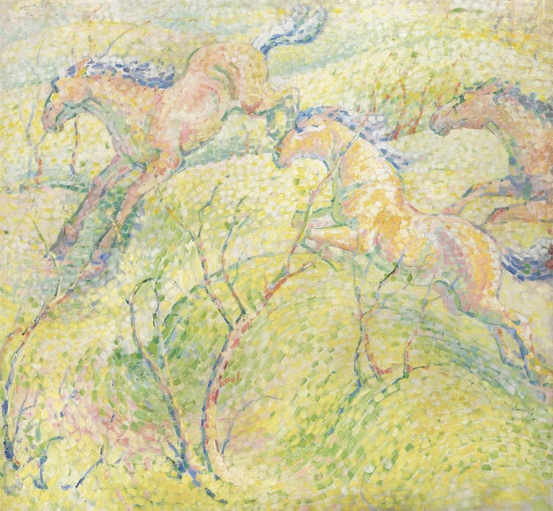 Картинки по запросу franz marc springende pferde