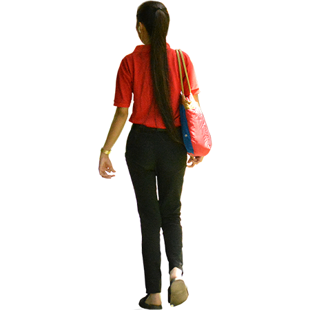 Png File Of A Woman With The Background Removed With Long Hair Down To Her Waist People Png Silhouette People People Cutout