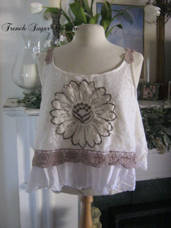 French Sugar Couture  Linen and Lace by frenchsugarcouture on Etsy