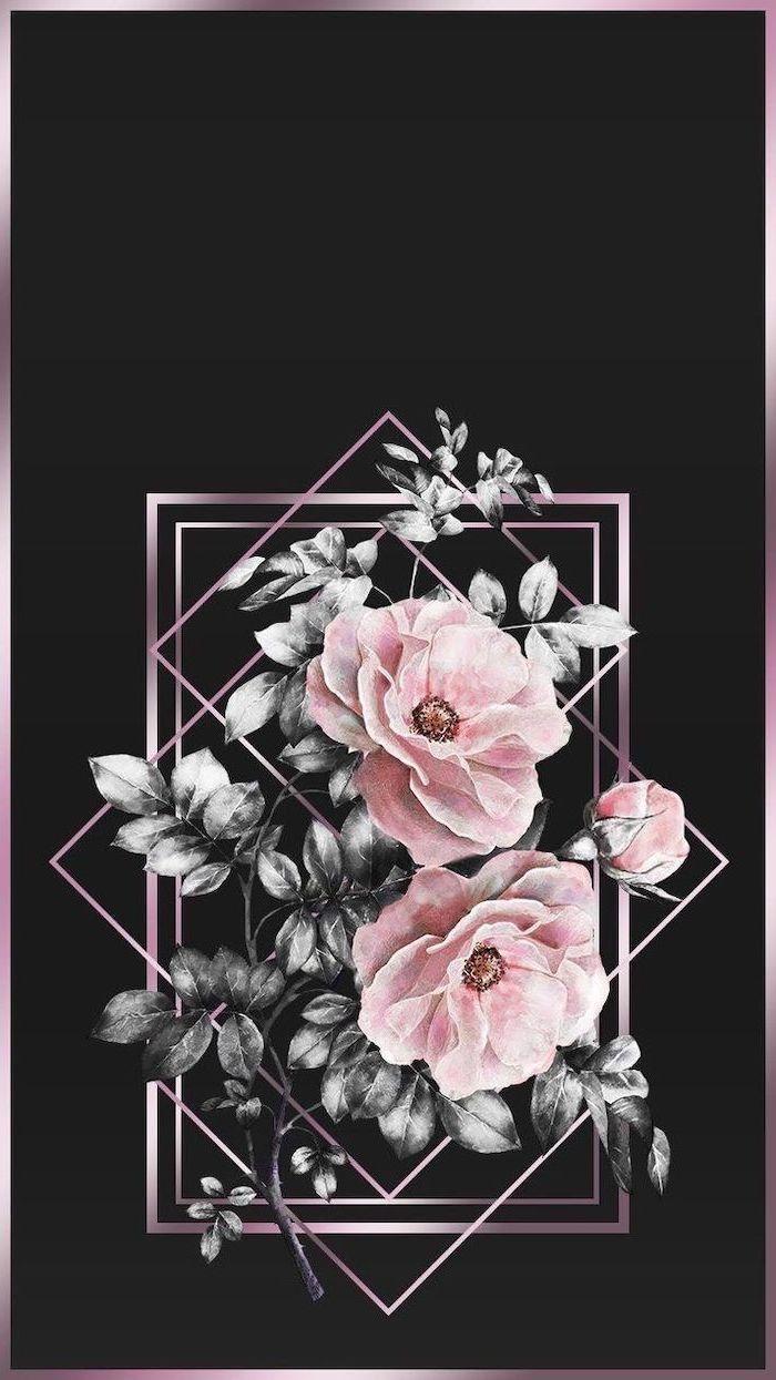 Wallpaper... By Artist Unknown... Dark wallpaper, Rose