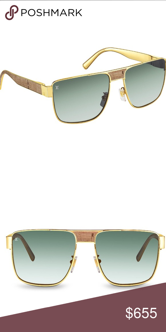 b423d9462cde Louis Vuitton Jimmy Mix 18k gold   Wood Sunglasses Louis Vuitton Authentic Jimmy  Mix 🕶 -