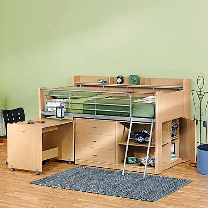 Simple small loft bed with desk loft beds for adults - Small beds for adults ...