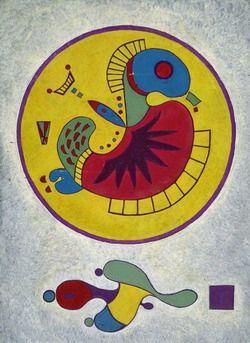 Painter Wassily Kandinsky. Untitled. 1944