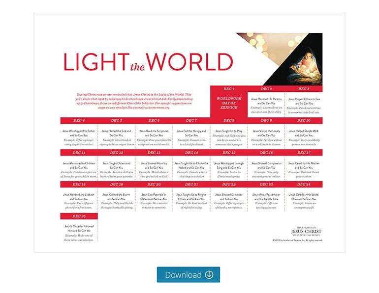 25 Ways to #LightTheWorld This Christmas   LDS.org Blog   Ward ...
