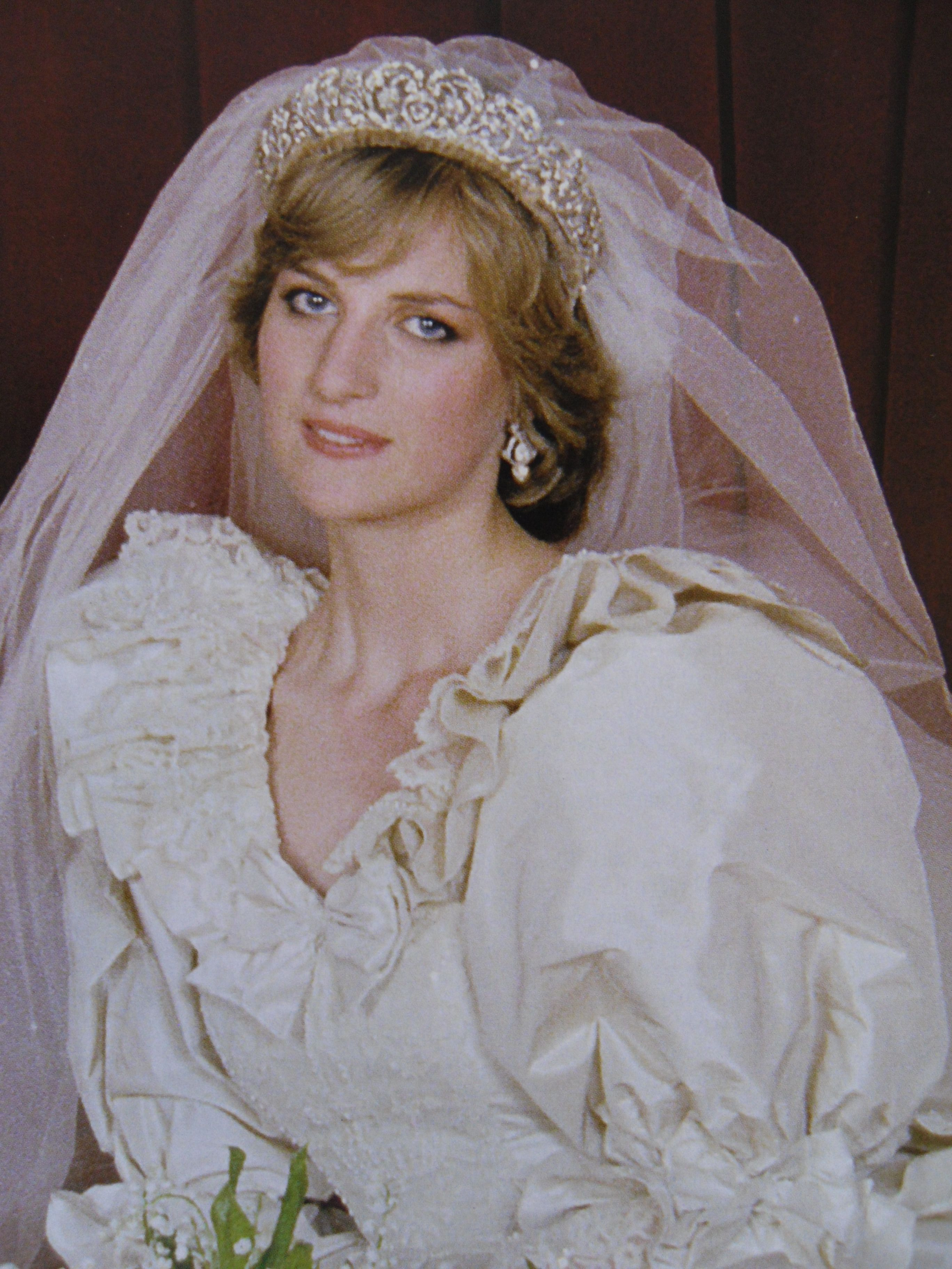 Princess Diana on her Wedding Day, 1981 Royal Wedding