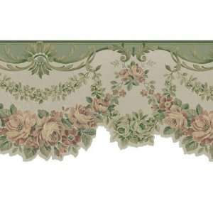 Victorian Rose Wallpaper Border nature buds rose border