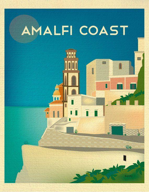 Image result for Amalfi Coast antique print