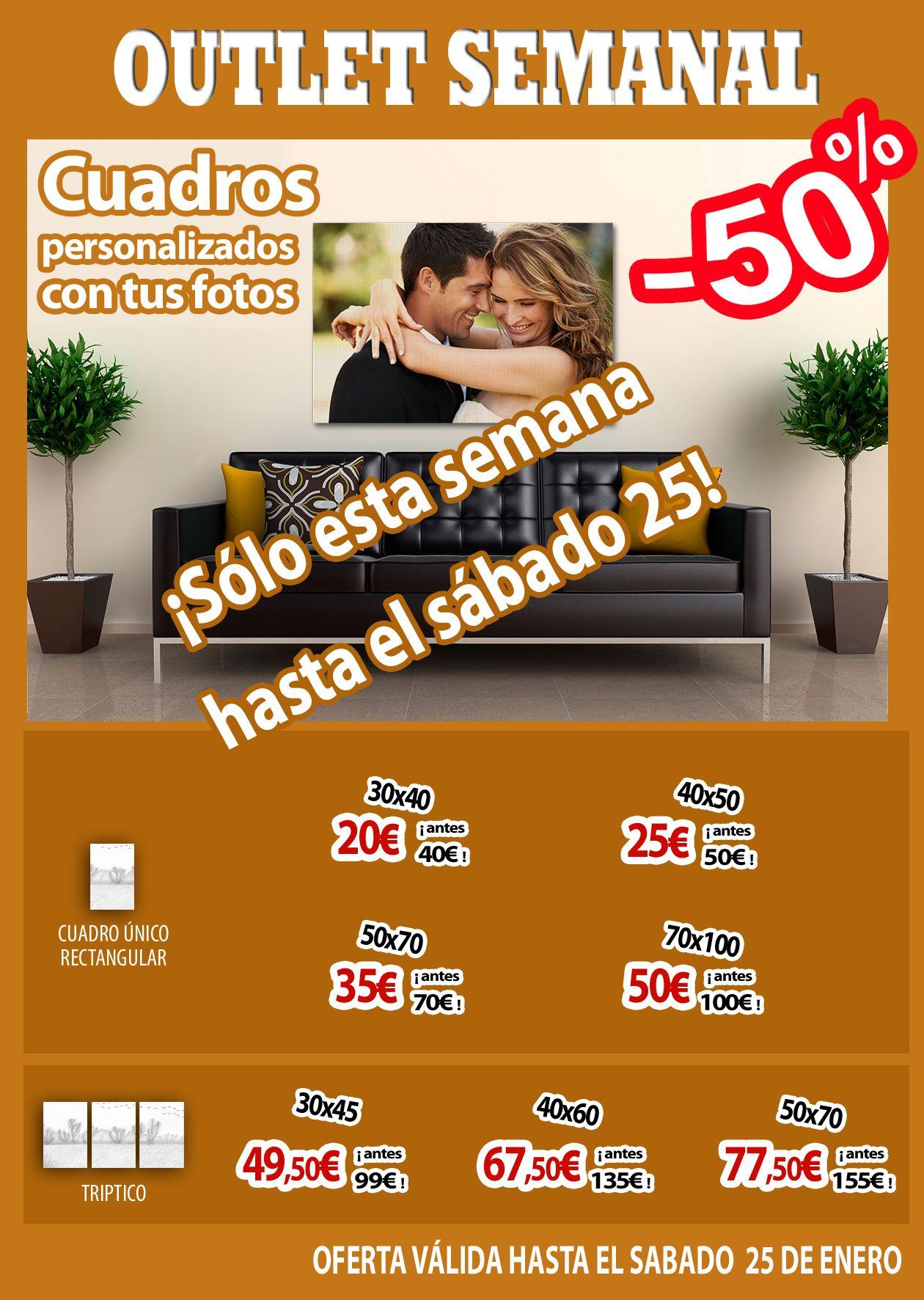 Promocion De Lienzos Con Bastidor Personalizados Al 50
