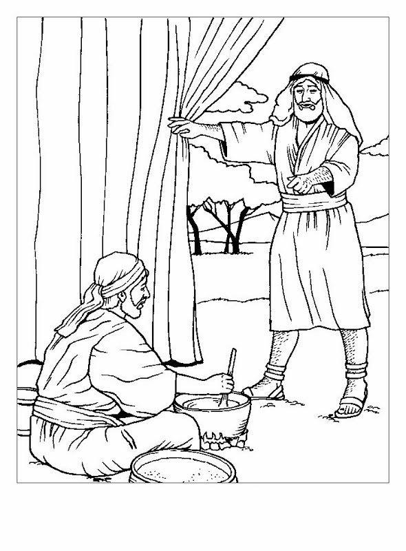 Dibujos De Esaú y Jacob Para Colorear | la primogenitura | Pinterest