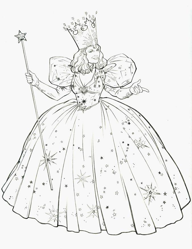 Glinda A Boa Fada Do Leste Com Imagens Desenhos De Bruxas