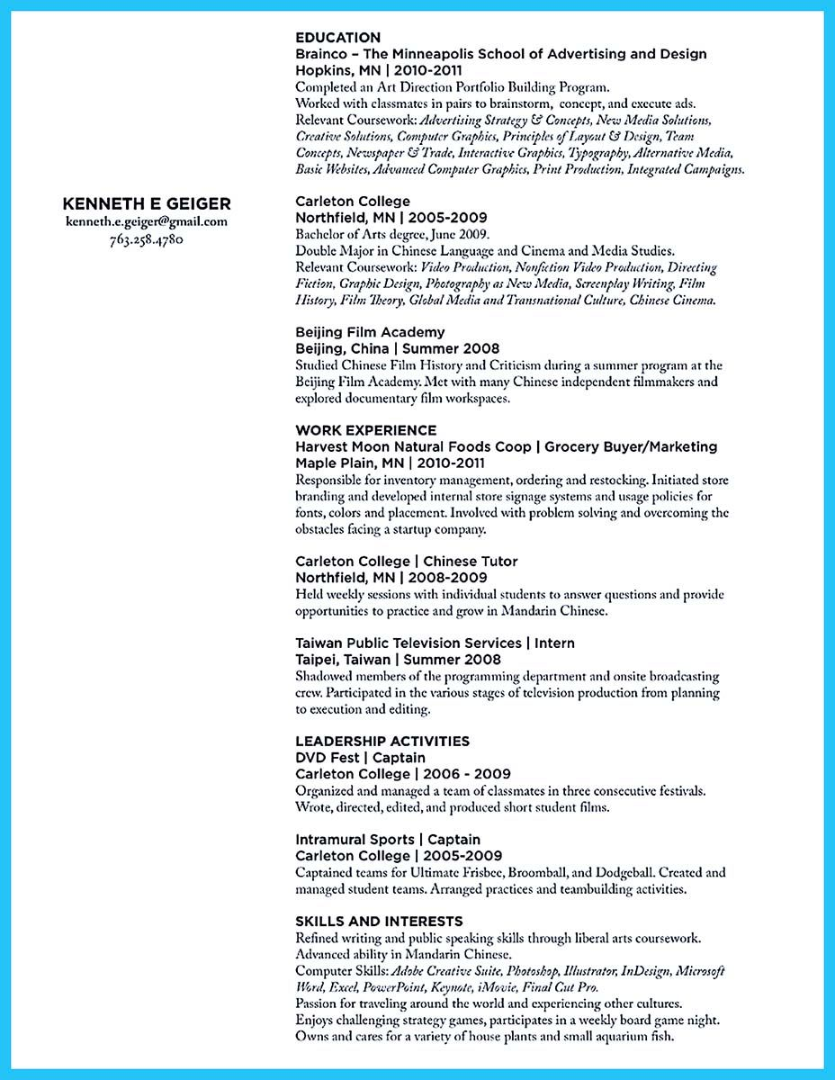 resume Resume For Art Student if you want to work as an art director should make explore best resume and more