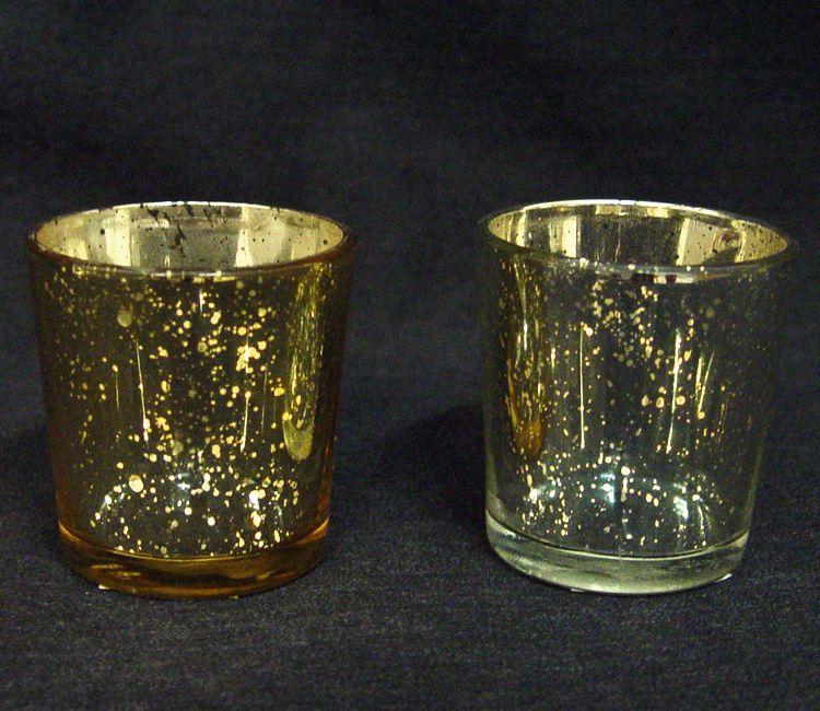 Votive Candle Holder, Gold or Silver