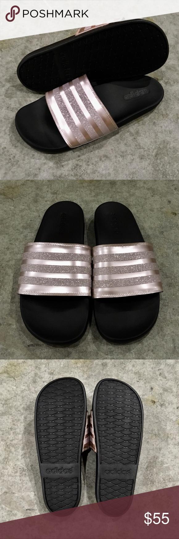 0baa108d156ad3 ADIDAS ADILETTE COMFORT CLOUDFOAM SLIDE SANDAL Women Adidas Adilette Comfort  Cloud Foam Slides Sandal Rose Gold