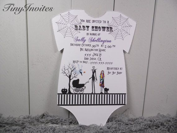 Nightmare Before Christmas baby shower invitation,jack skellington ...